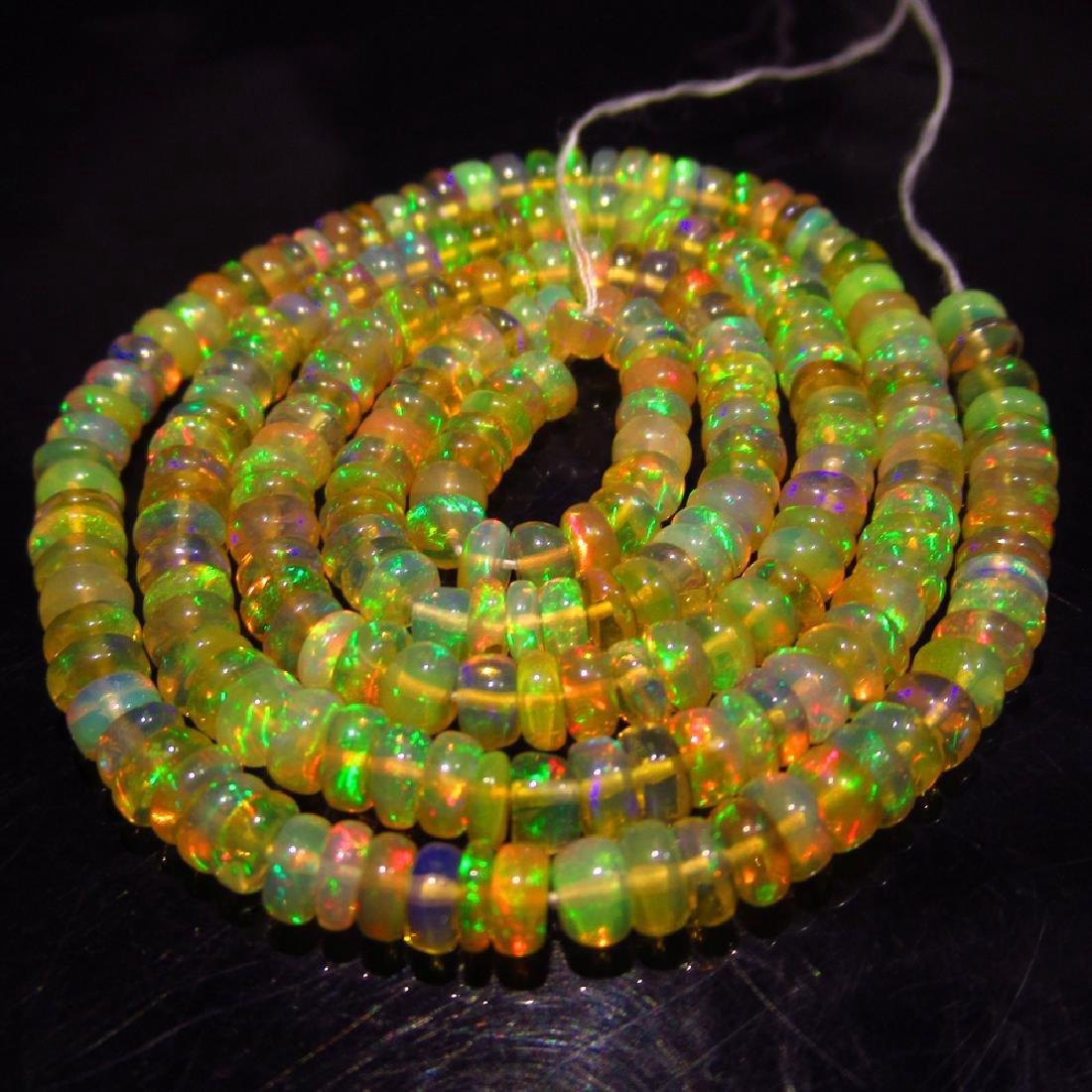 39.07 Ctw Natural Loose Honey Opal Beads Necklace Set