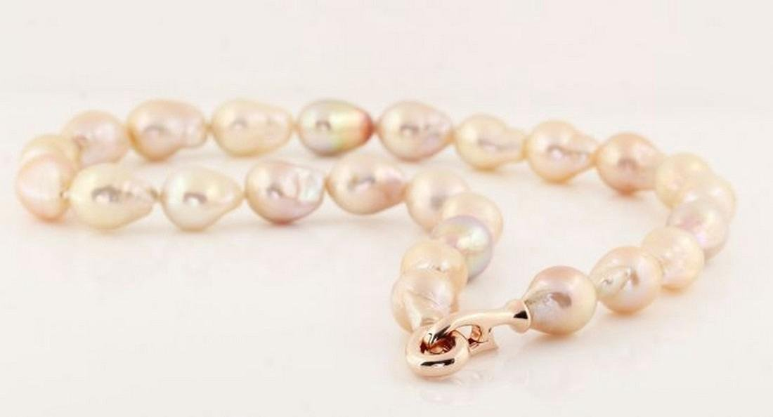 Multicolour Baroque Freshwater Pearl Necklace Set with