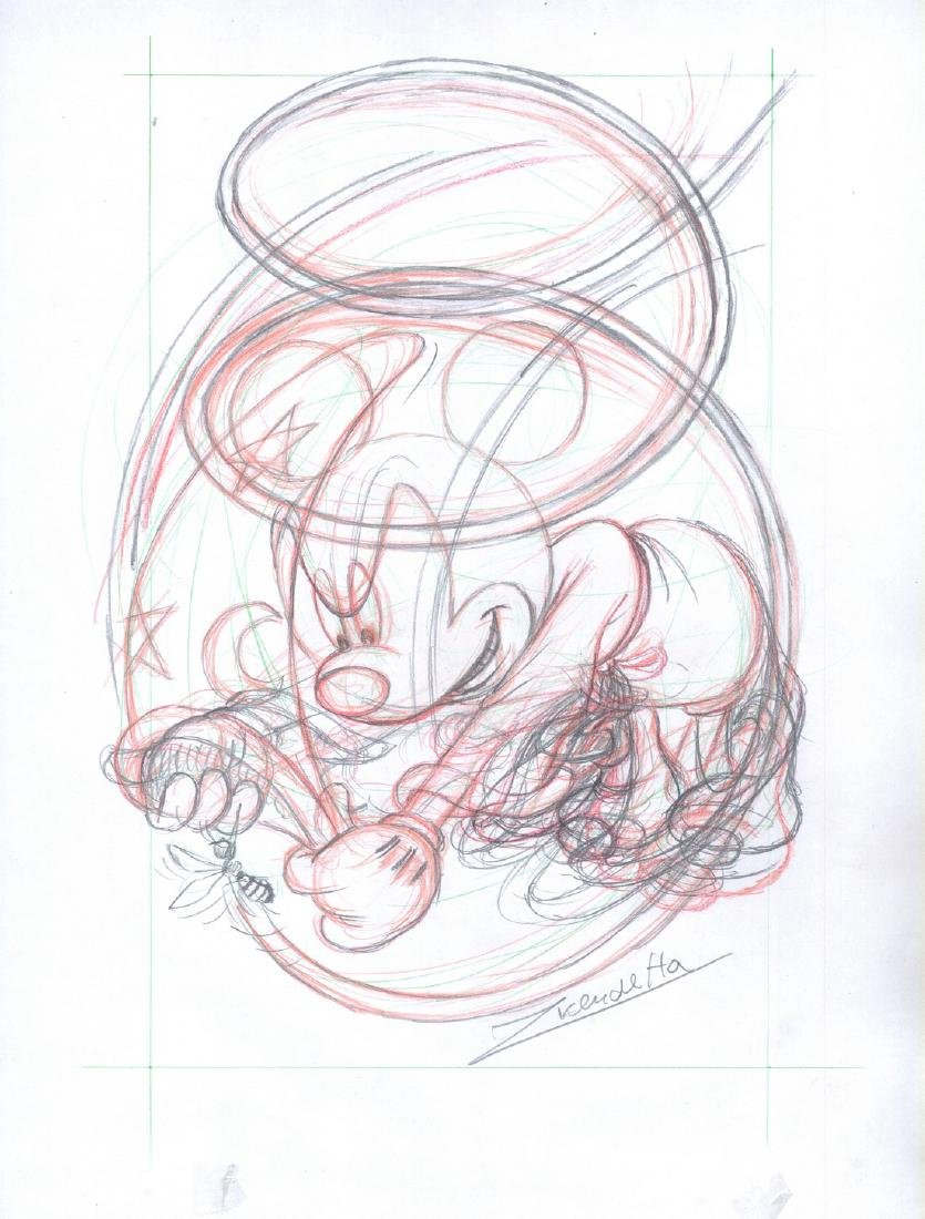 Original Sketch Mickey's Bee #6