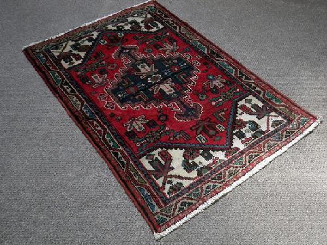 Hand Woven Fine Quality Persian Hamedan Rug 4.8x3.3