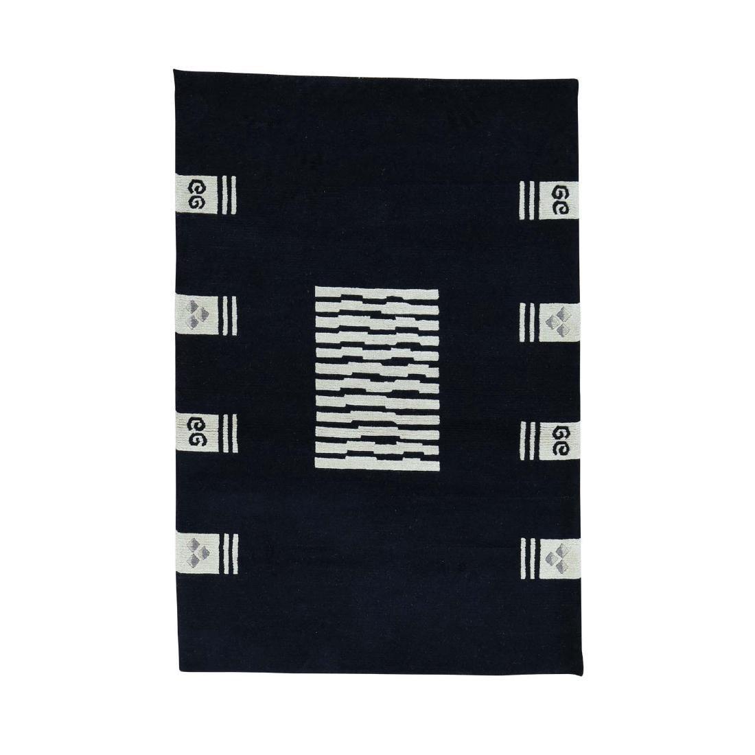 4.x6. Hand-knotted Modern Nepali Pure Wool  Rug