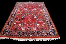 Hand-knotted Heriz Serapi Wool Rug 6.7x9.9