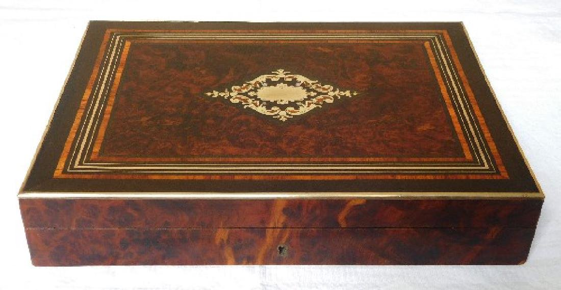 French gambling marquetry box, Napoleon III period