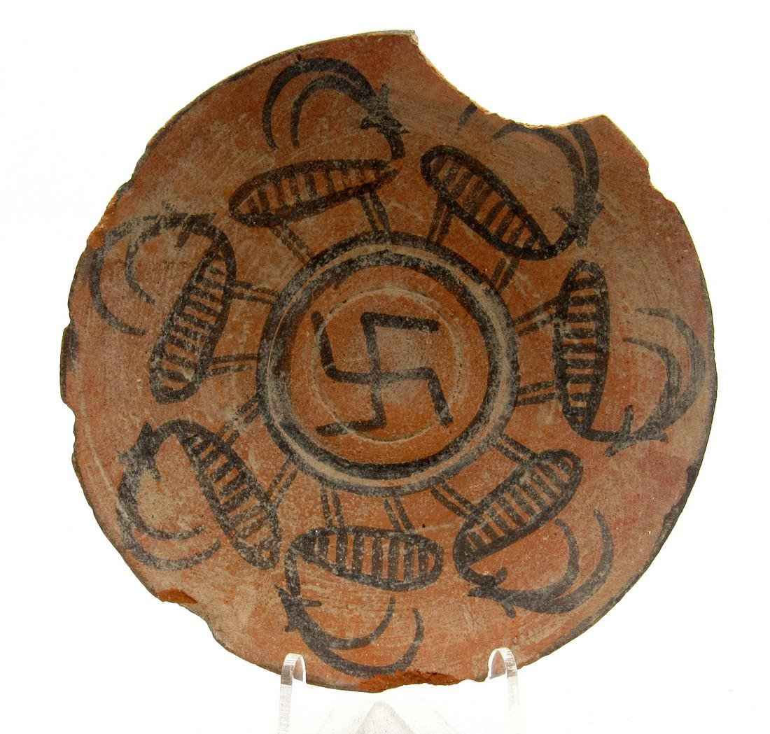 Indus Valley Plate depicting Deer and Swastika - Indus