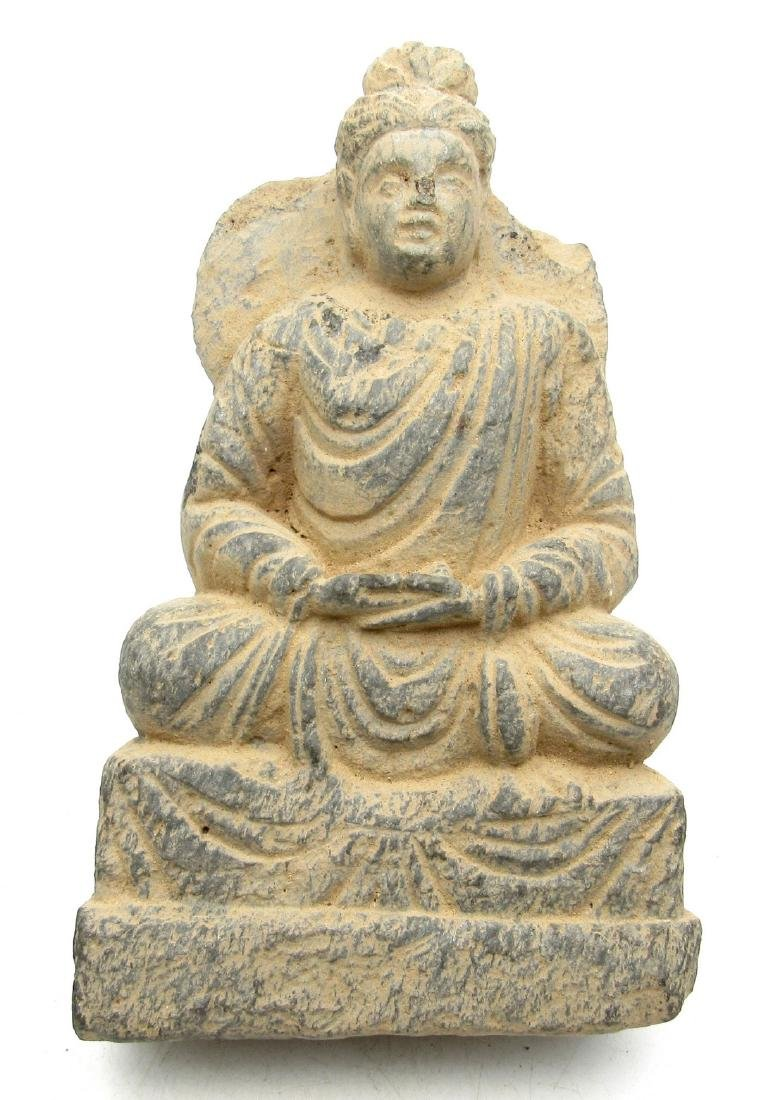 Gandhara Panel depciting seated buddha