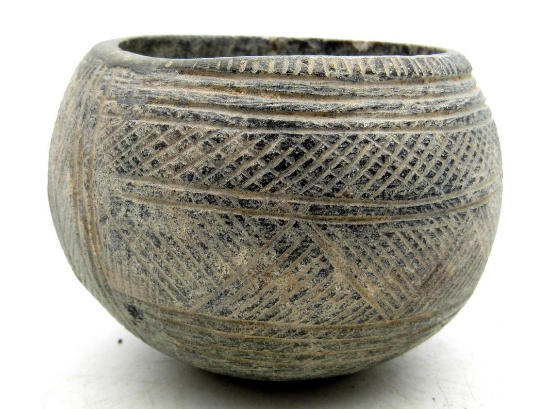 Gandhara Carved Stone Religious Cup
