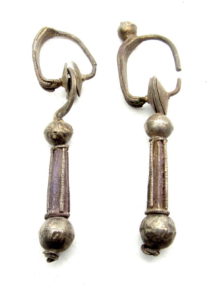 Pair of Viking Silver Earrings