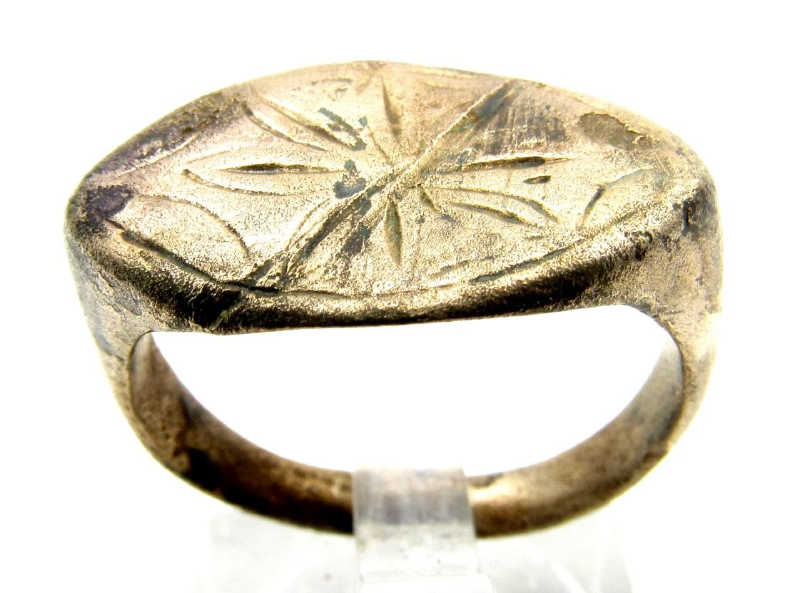 Crusaders Seal Ring with Cross
