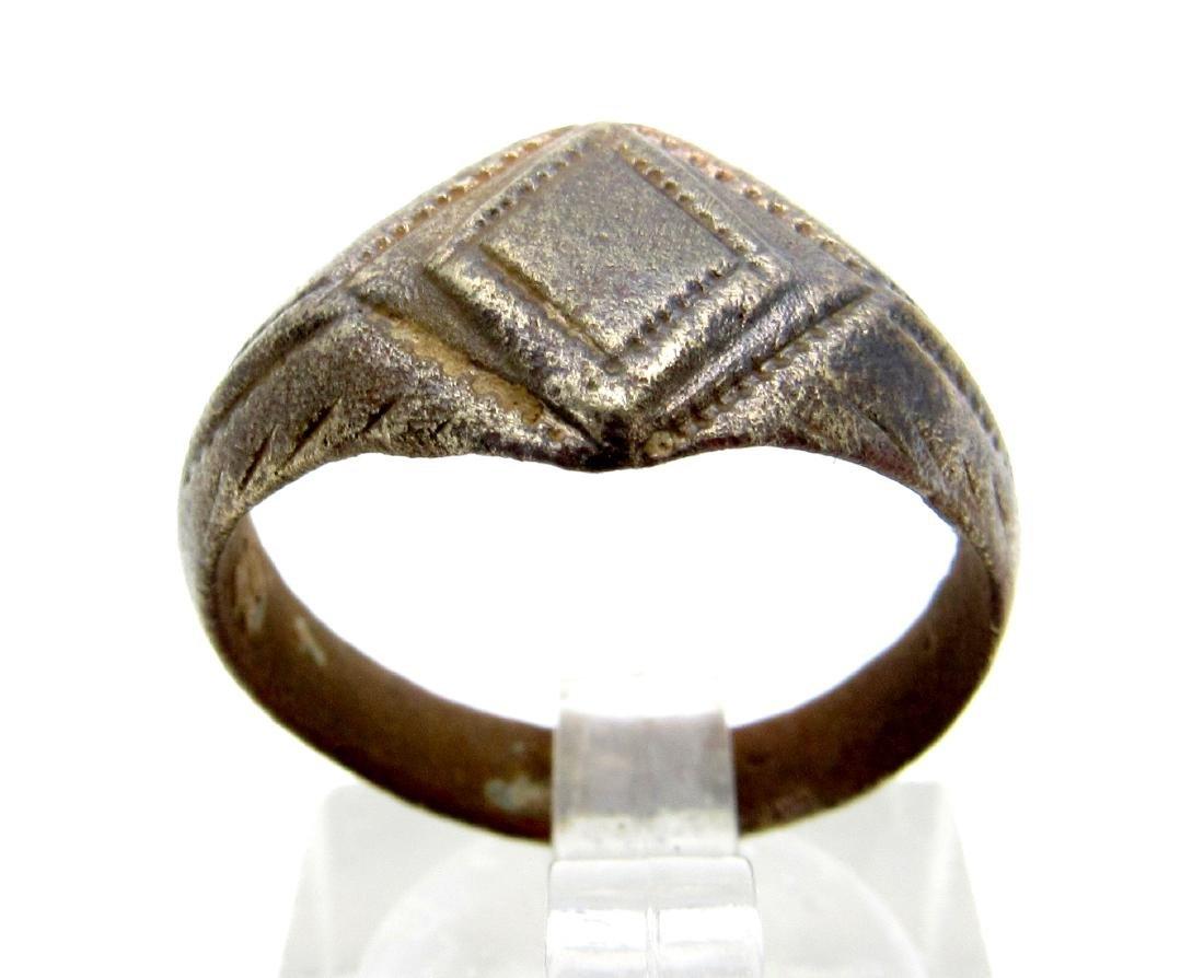 Roman Ring Diamond Shape Bezel