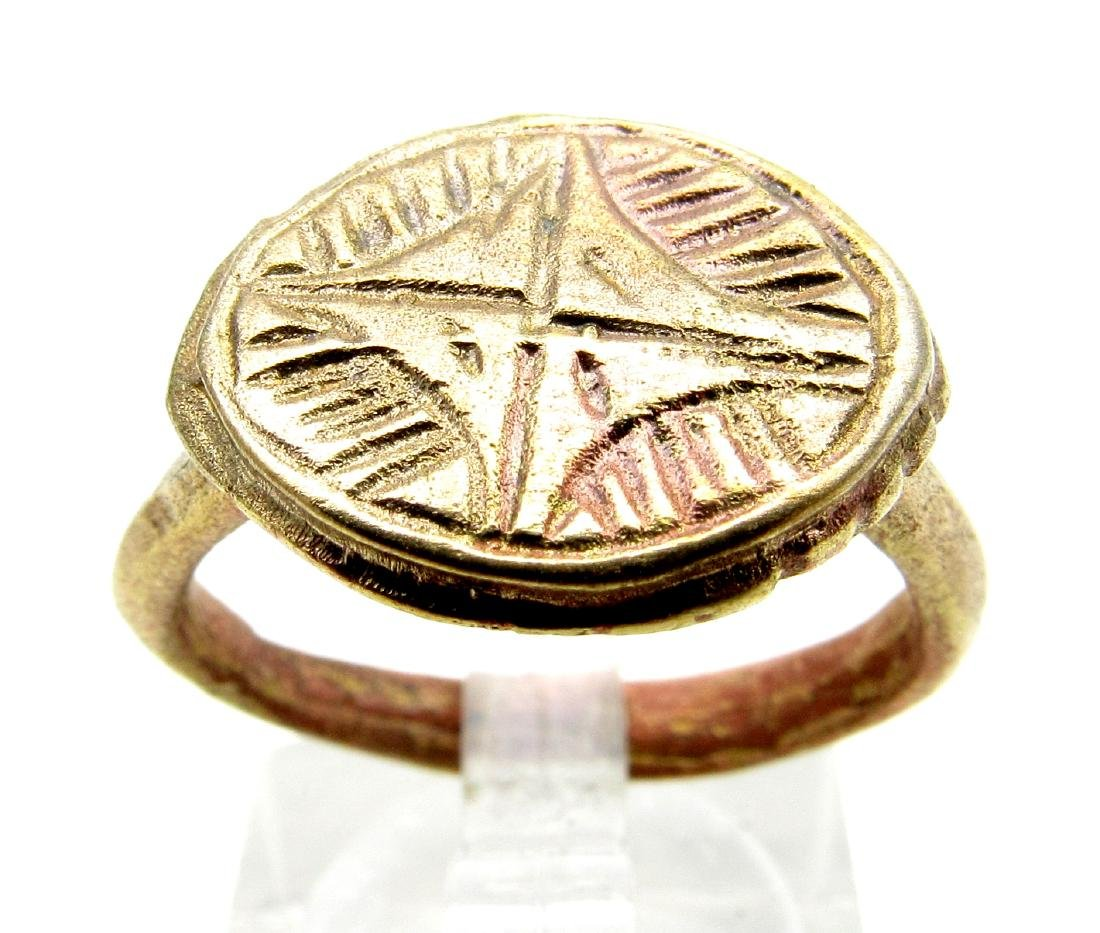 Crusaders Seal Ring with Star of Bethlem
