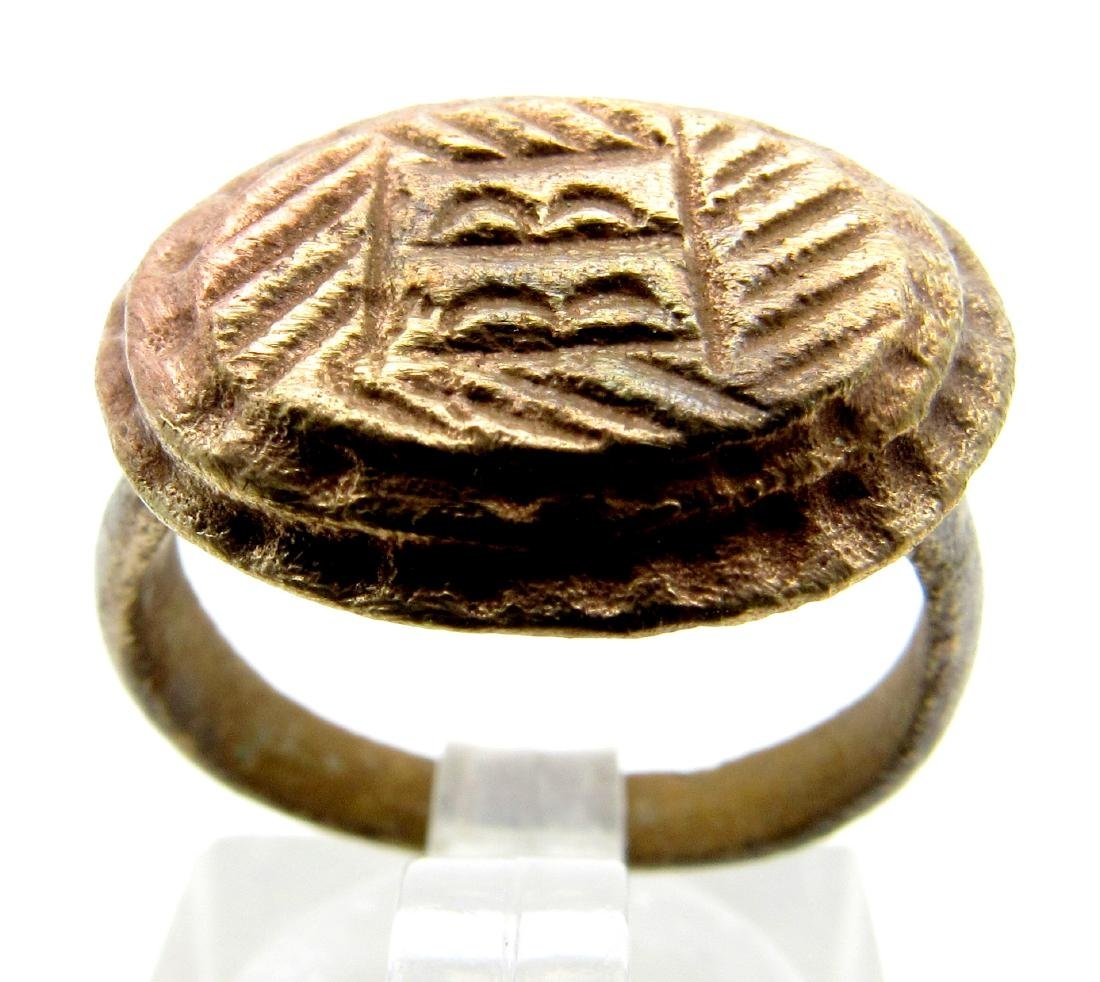 Medieval Mysterious Ring with Symbol