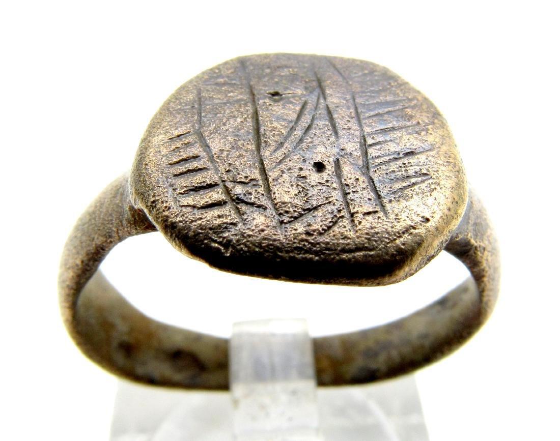 Viking Warrior's Ring with Runix Script