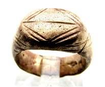 Roman Legionary Ring with Geometric Pattern