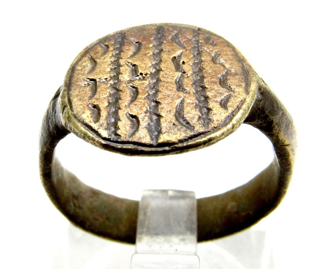 Viking Astrological Ring with Moon Crescent