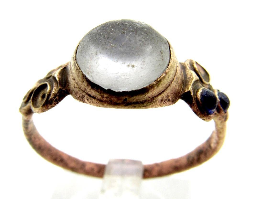 Medieval Ring with White Stone