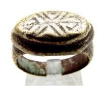 Roman Legionary Ring with Thunderbolt