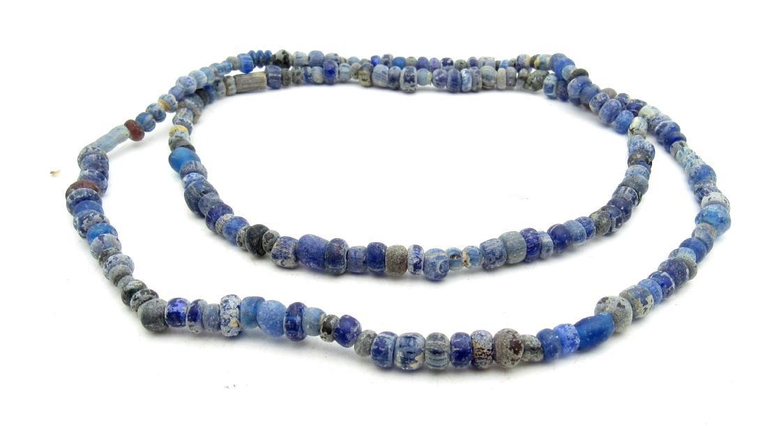 Large Viking Blue Glass Necklace- 100+ Beads