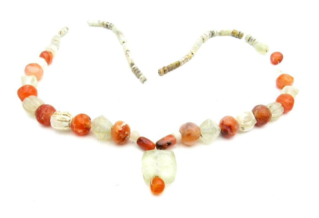 Viking Glass and Amber Necklace - 65 Beda