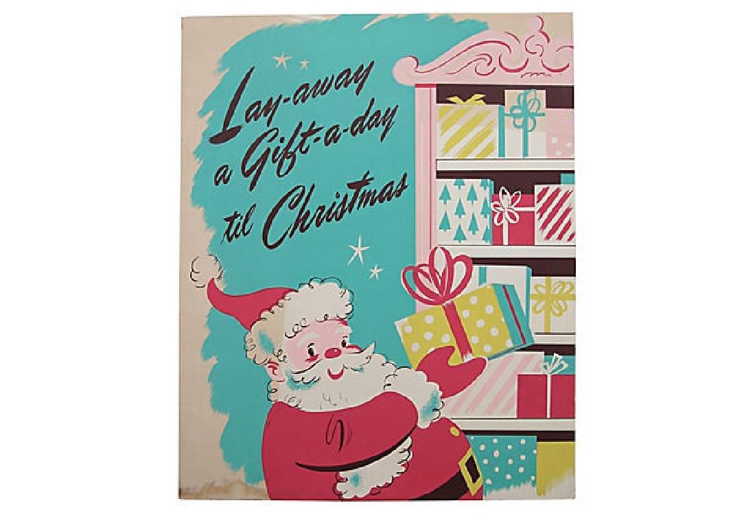 Lay-Away Christmas Poster