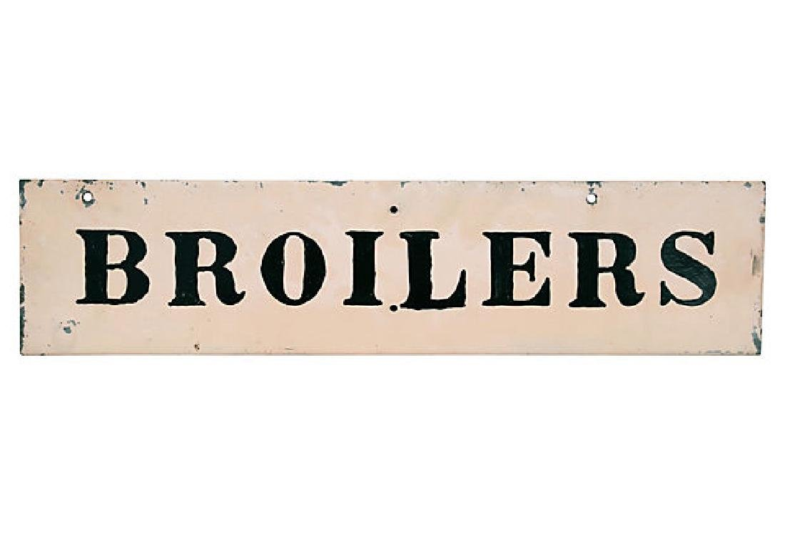 Broilers Chicken Sign