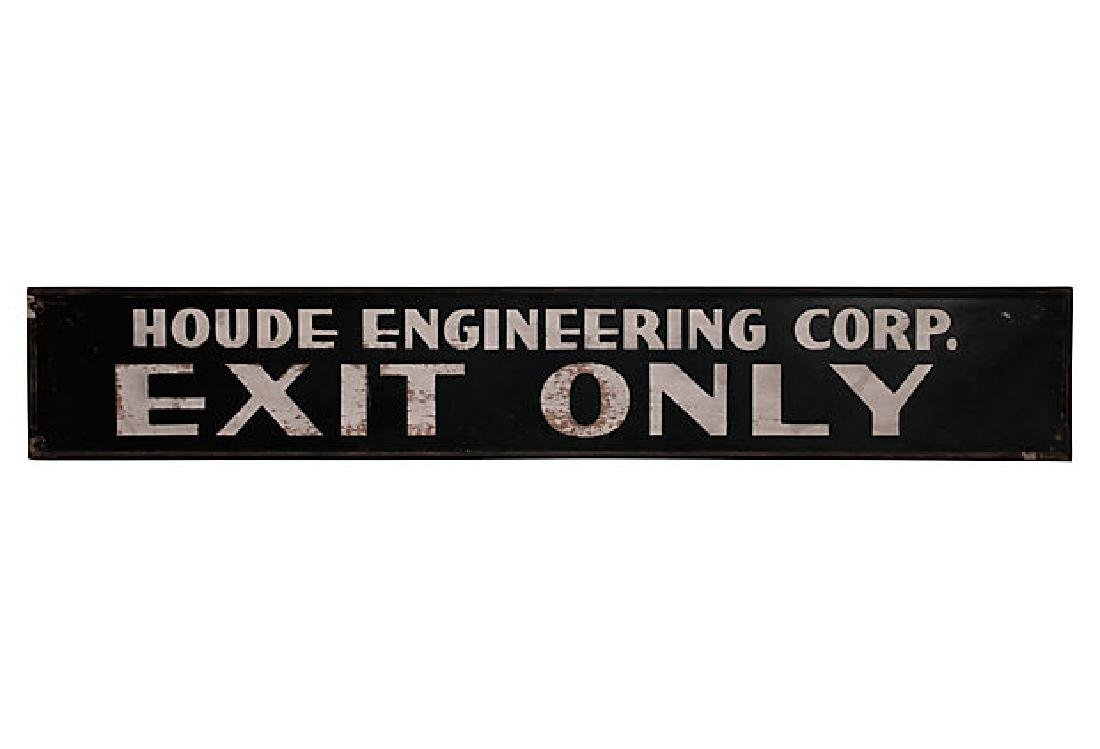 Large Exit Only Sign