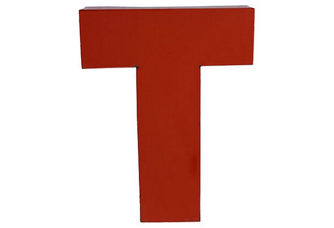 Porcelain Letter T