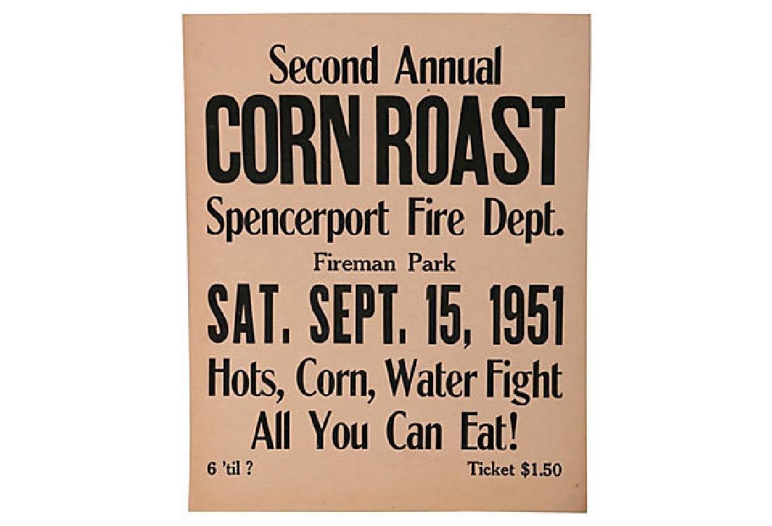 Corn Roast Sign