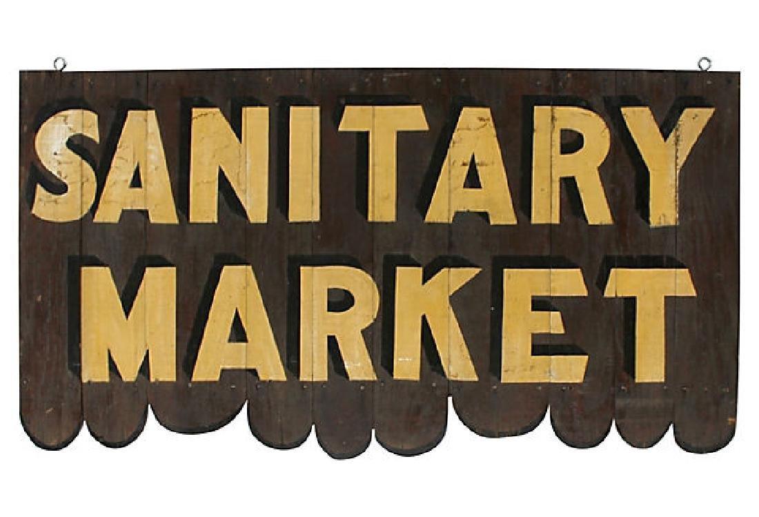 Sanitary Market Sign