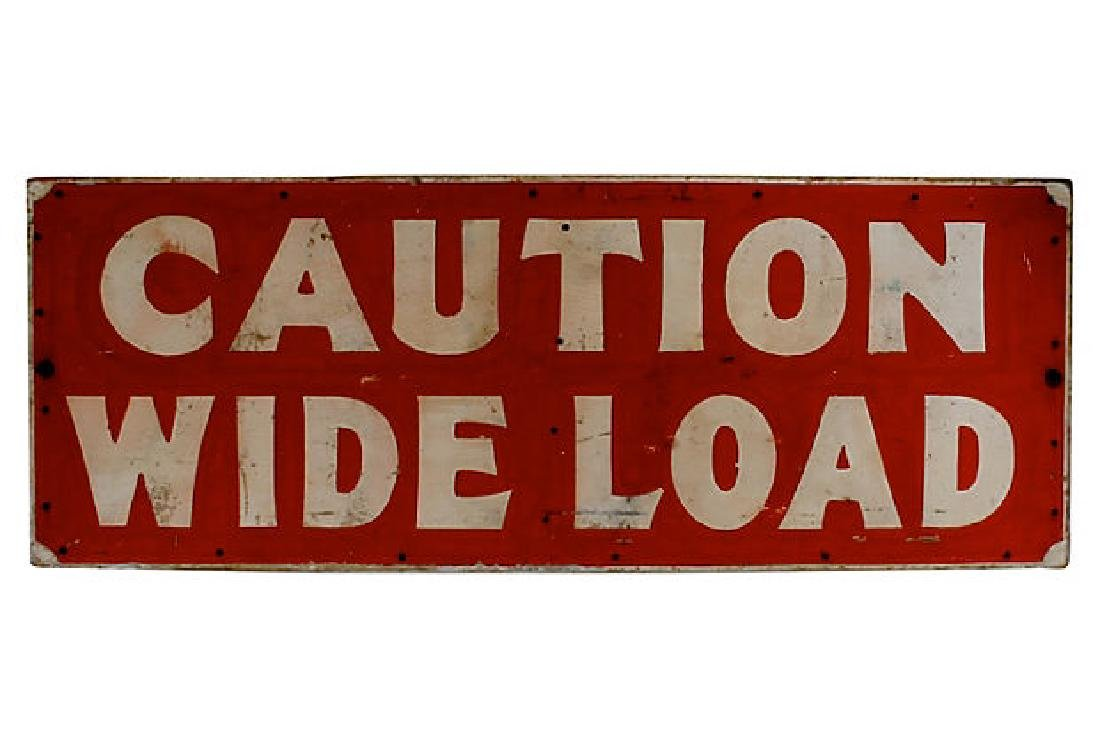 Caution Wide Load Sign
