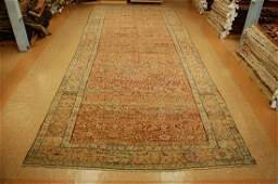 Mid 1800's Antique Persian Sarouk Ferahan Rug 7.9x19.2