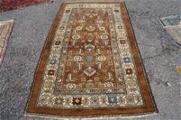Antique Collectible Kurdish Rug 36x63 1890