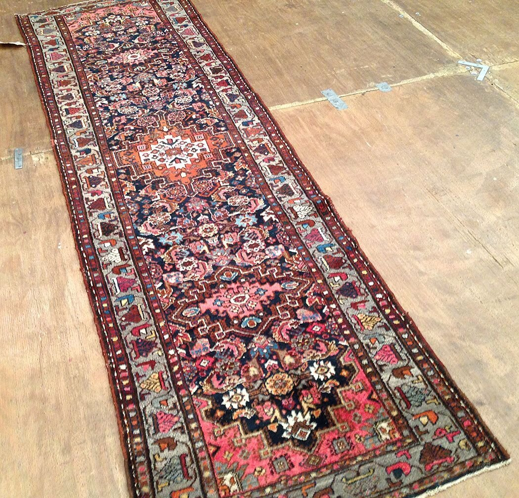 Antique Persian Malayer Runner Rug 9.6x2.8