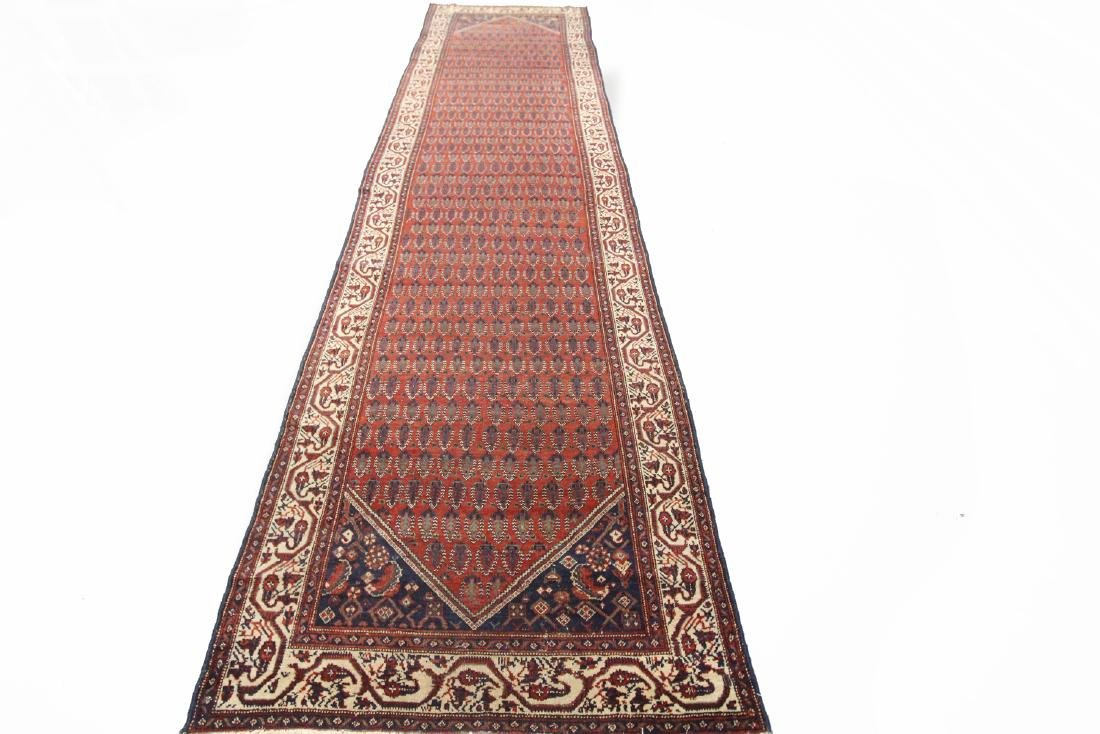 Antique Persian Malayer Runner Rug 4.2x15 C.1900