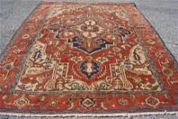 Antique Hand Woven Persian Serapi Rug 4.10x6.2