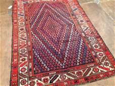 Antique Persian Afshar Rug 6.10x4.7
