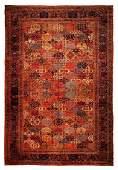 Persian Antique Garden Palace Rug 14.6x21.8 C.1900
