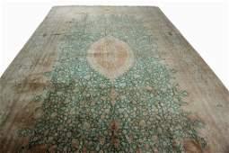 Persian Silk Ghom Signed Jamshidi Qum Rug 10x13.4