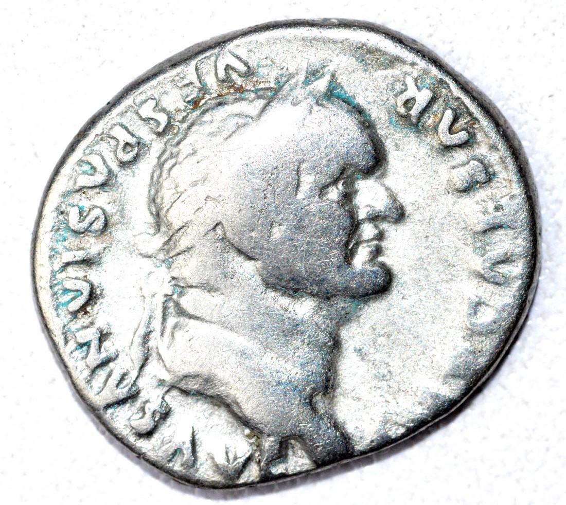 Roman AR Denarius of Vespasian, rv, Emperor