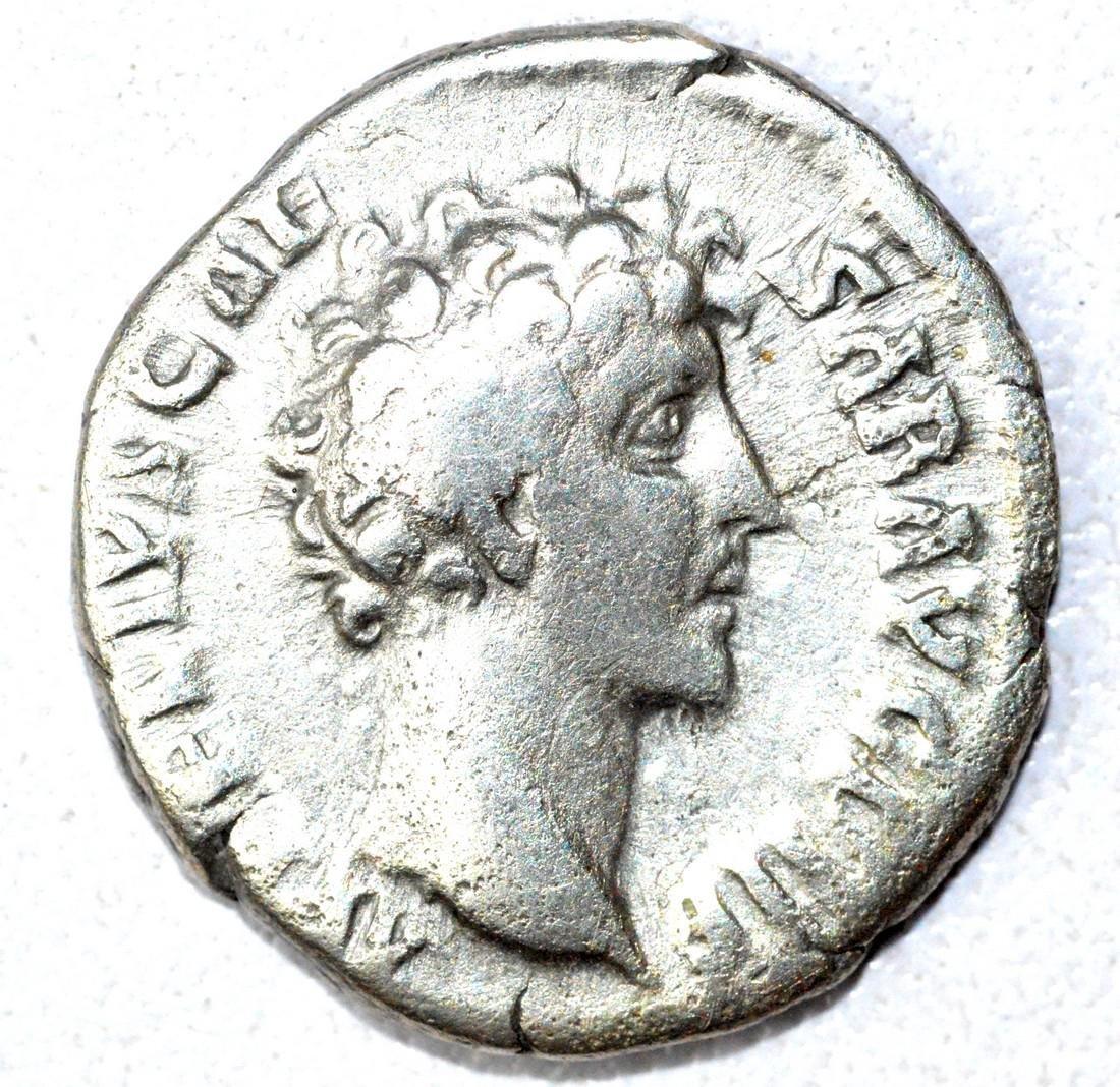 Roman Denarius of Marcus Aurelius, rv. Honos