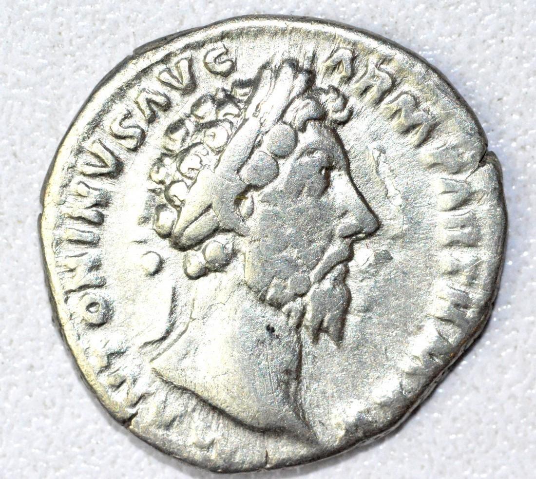 Roman Denarius of Marcus Aurelius, rv. Aequitas