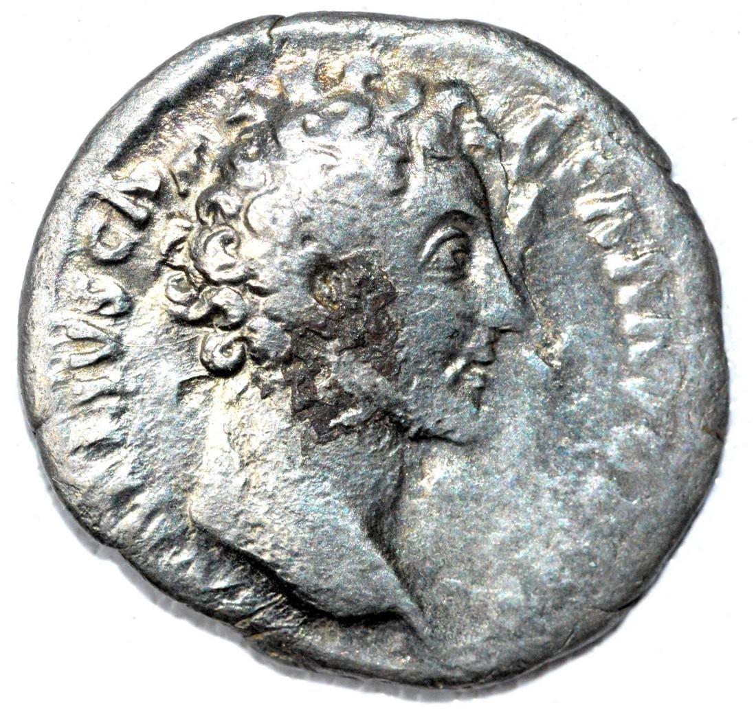 Roman Denarius of Marcus Aurelius, rv. Roma