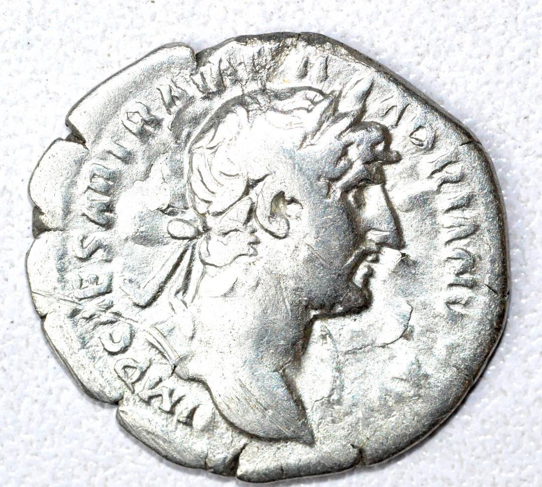 Roman AR Denarius of Hadrian, rv. Aequitas