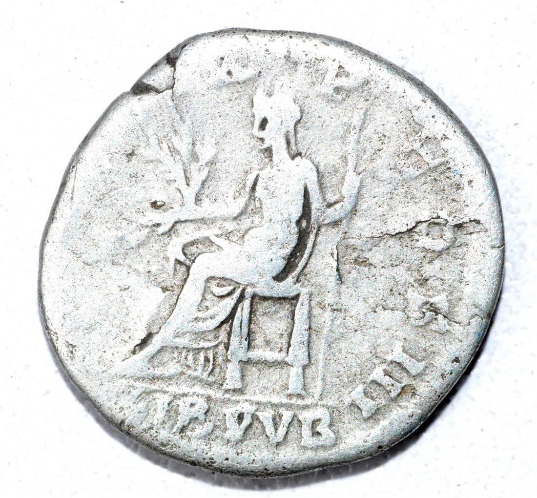 Roman AR Denarius of Hadrian, rv. LIB PUB