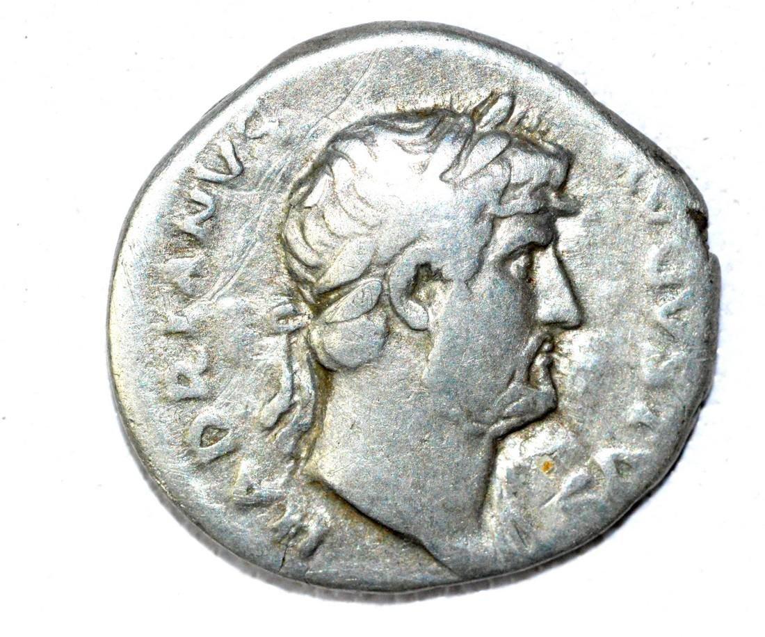 Roman AR Denarius of Hadrian, rv. Roma