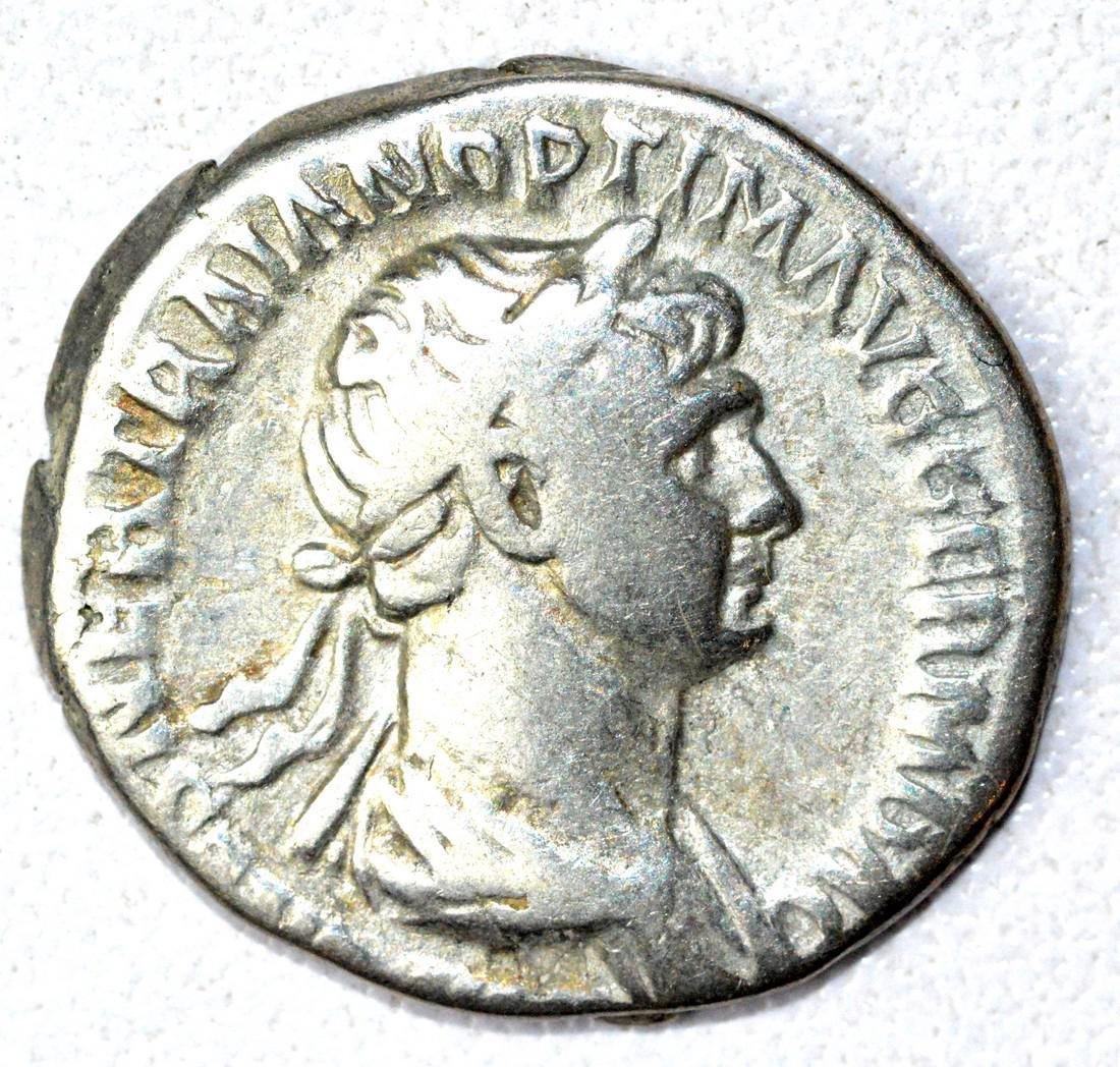Roman AR Denarius of Trajan, rv. Providentia
