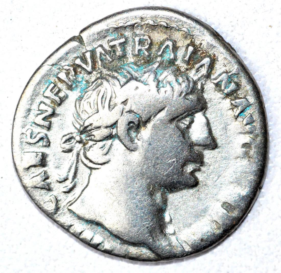 Roman AR Denarius of Trajan, rv. Mars