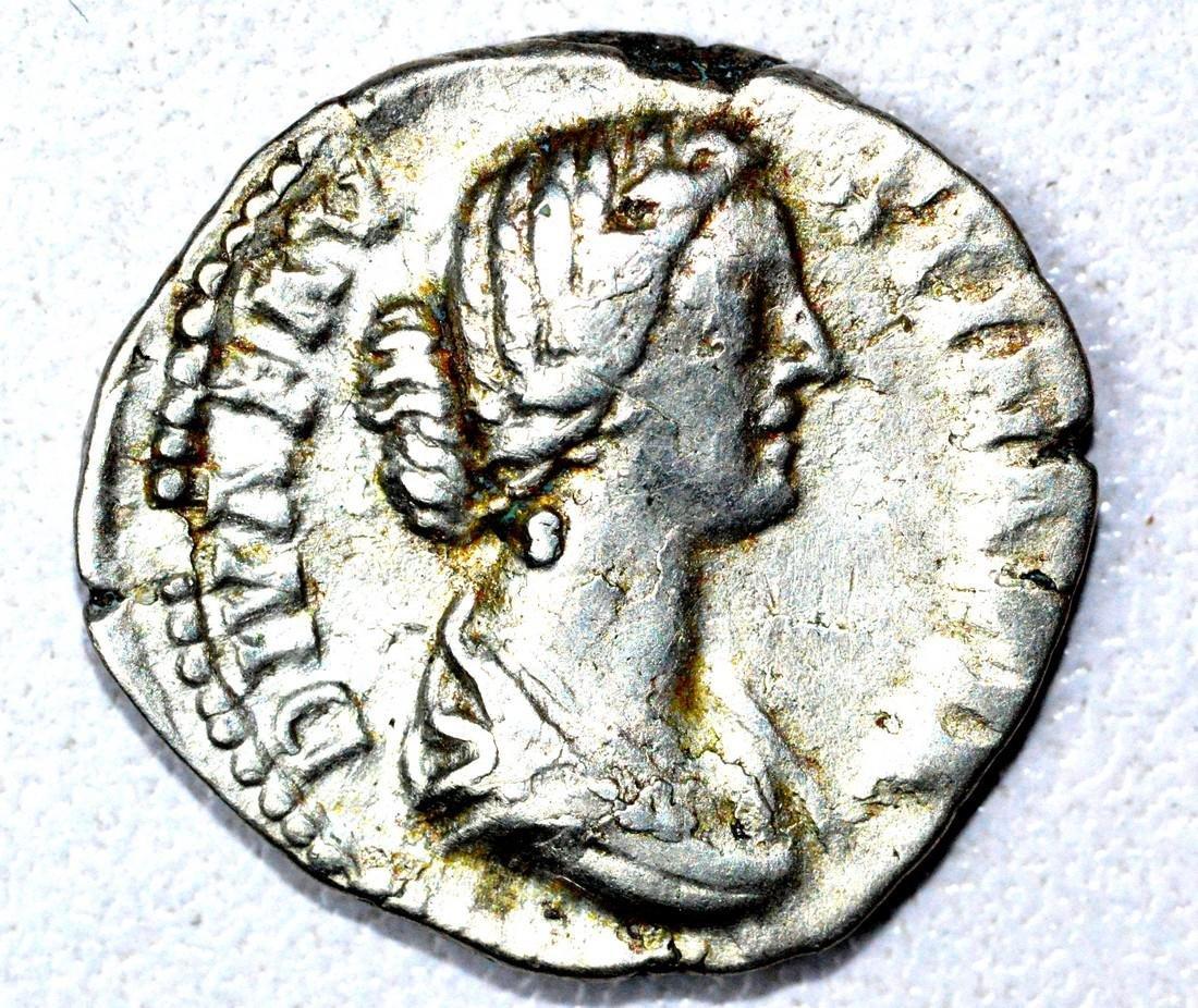 Roman AR Denarius of Faustina, rv. Consecratio