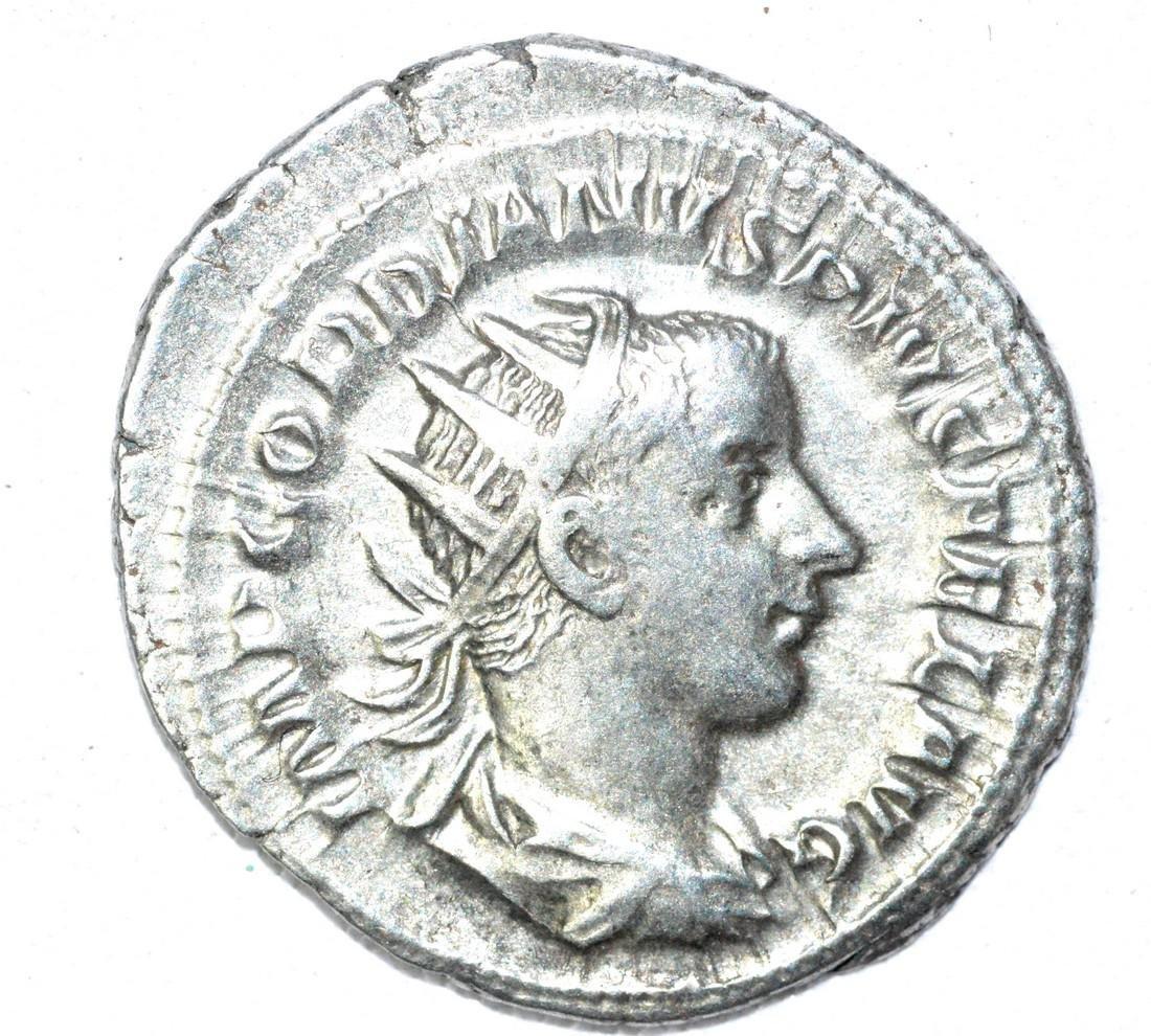 Roman AR Radiate of Gordian III, rv. Apollo