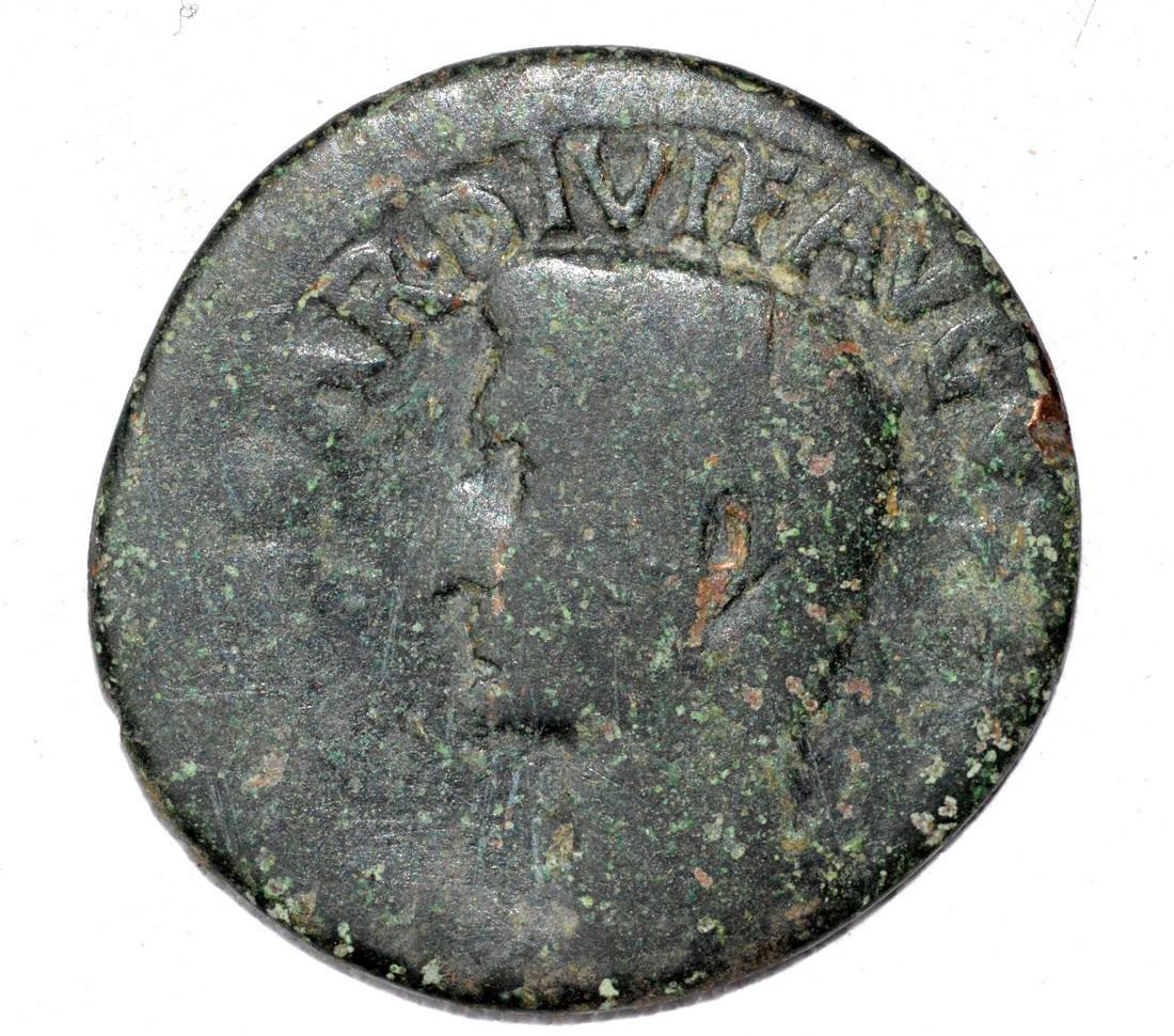 Roman AE Copper As of Emperor Augustus