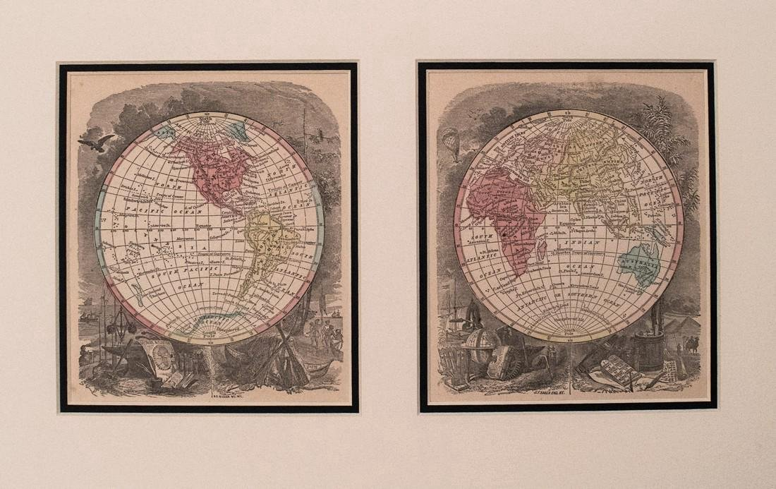 Morse: Antique Map of the World, 1857